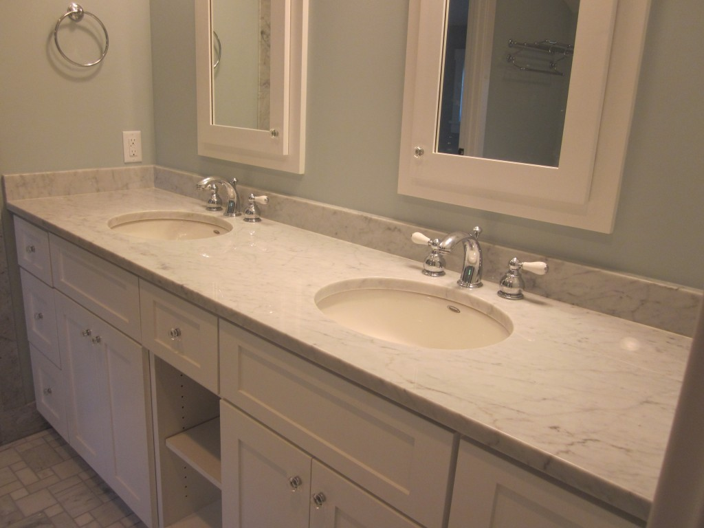 bathroom vanity tops marble white