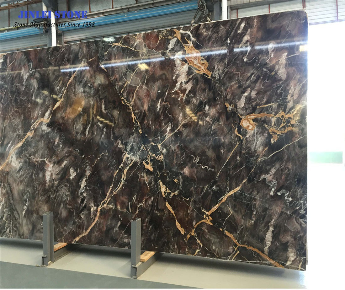 Building Material Chinese Venice Red Black Marble for Interior Decoration