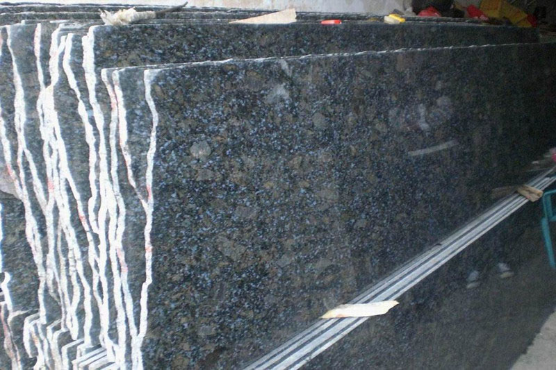 Butterfly Blue Granite Slab Polished for Kitchen Countertops