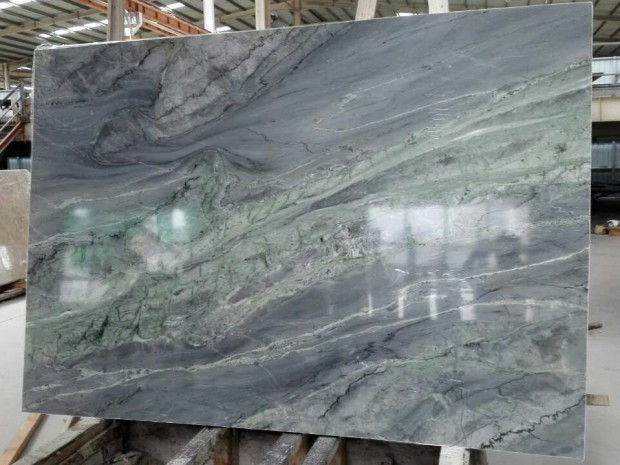 CLOUDY GREEN SILK MARBLE SLAB Marble in Slabs