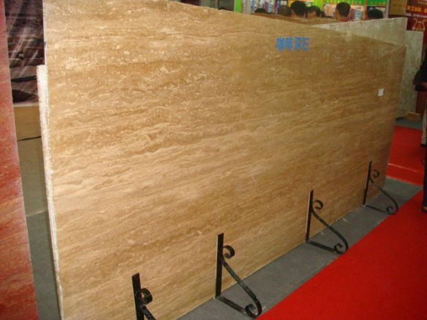 COFFEE BROWN TRAVERTINE SLAB
