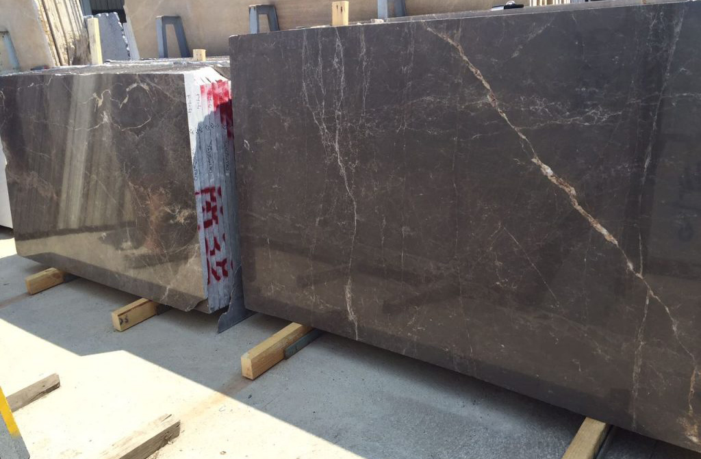 Cafe Olive Slab Turkish Brown Marble Stone Slabs with Competitive Price