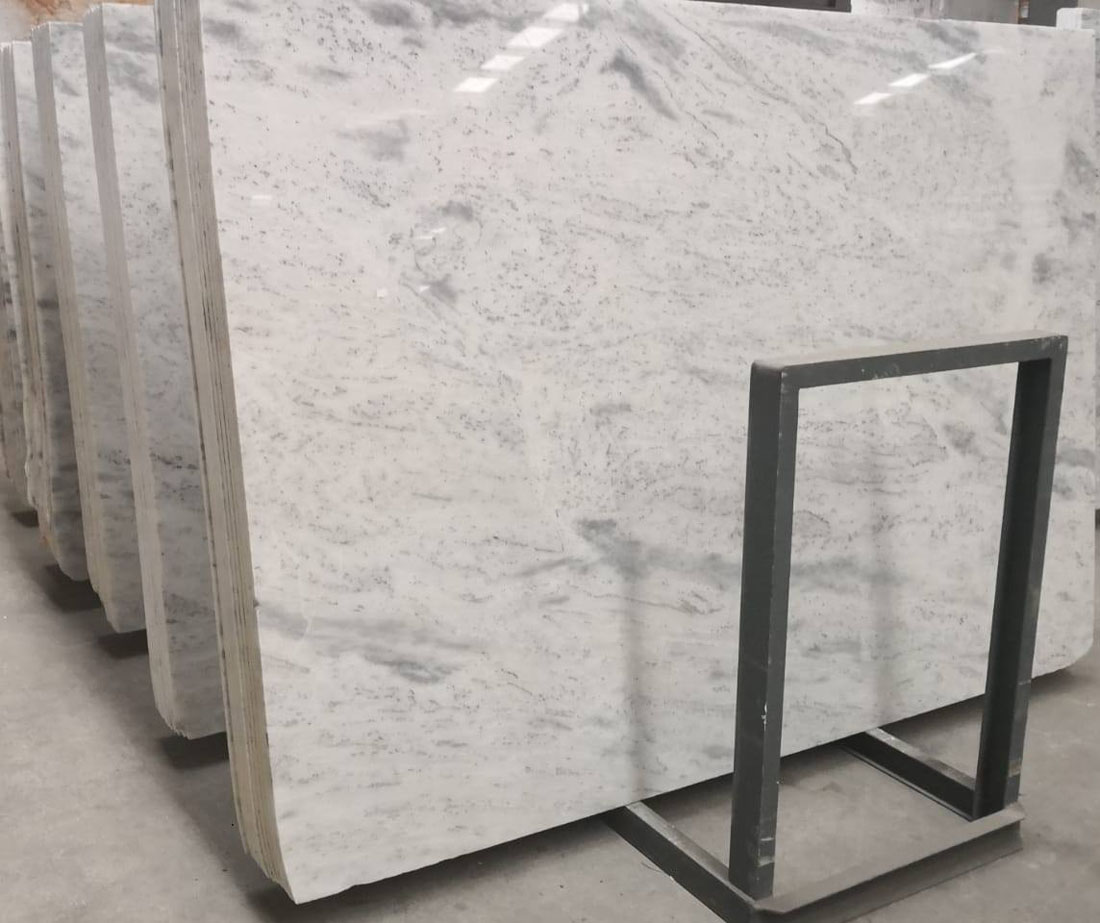 Calacata White Polished Marble Slabs
