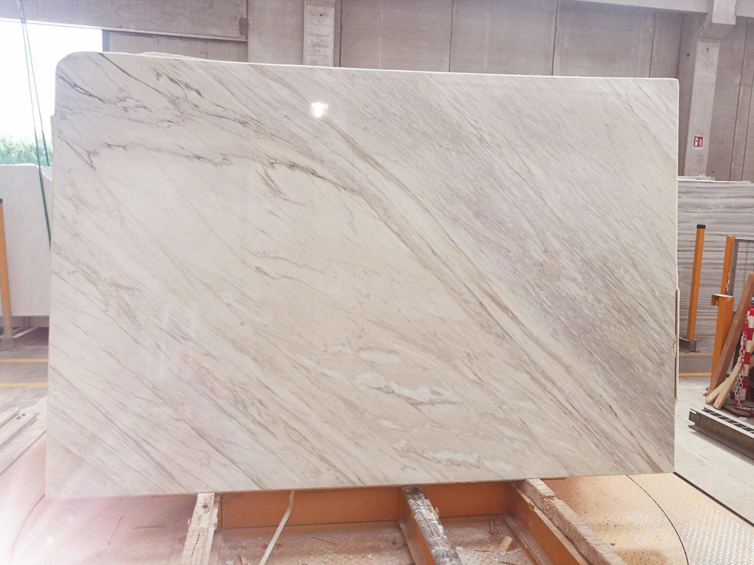 Calacatta Bella Polished White Marble Slabs