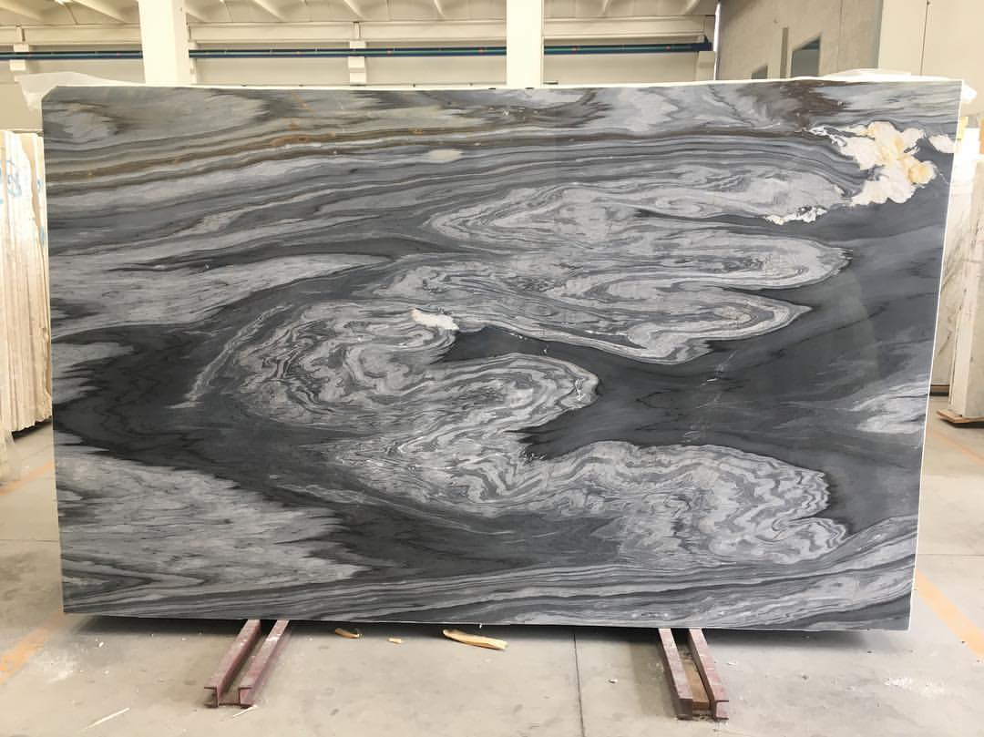 Calacatta Cielo Marble Slabs Polished Grey Marble Slabs