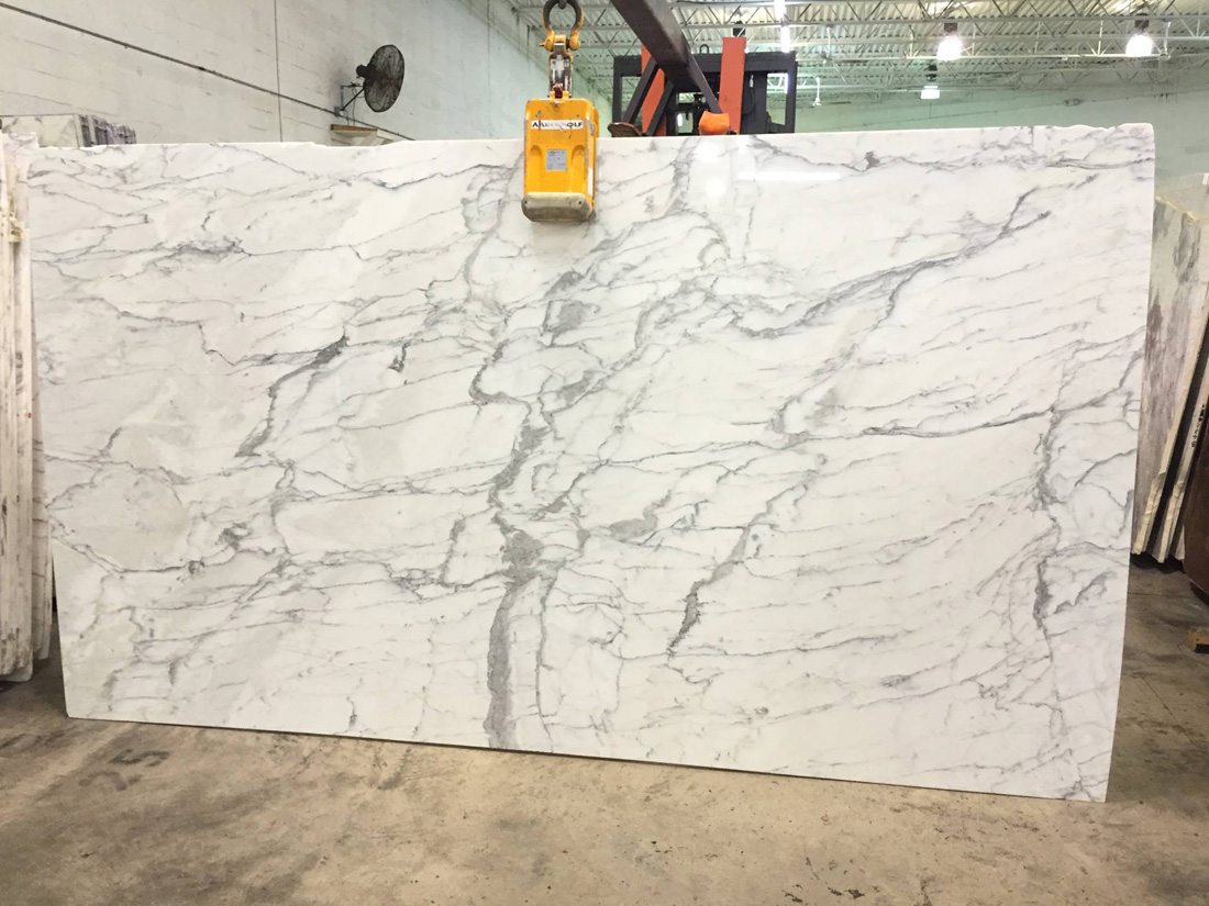 Calacatta Classic Marble Polished White Slabs