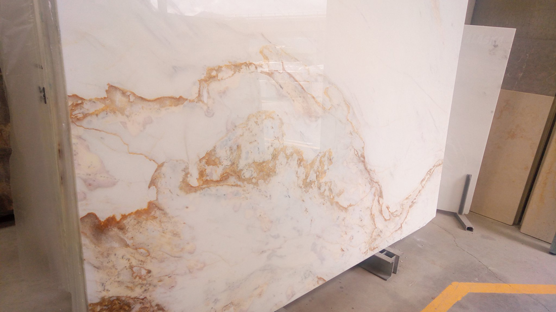 Calacatta Gold Marble Slabs Polished White Marble from Italy