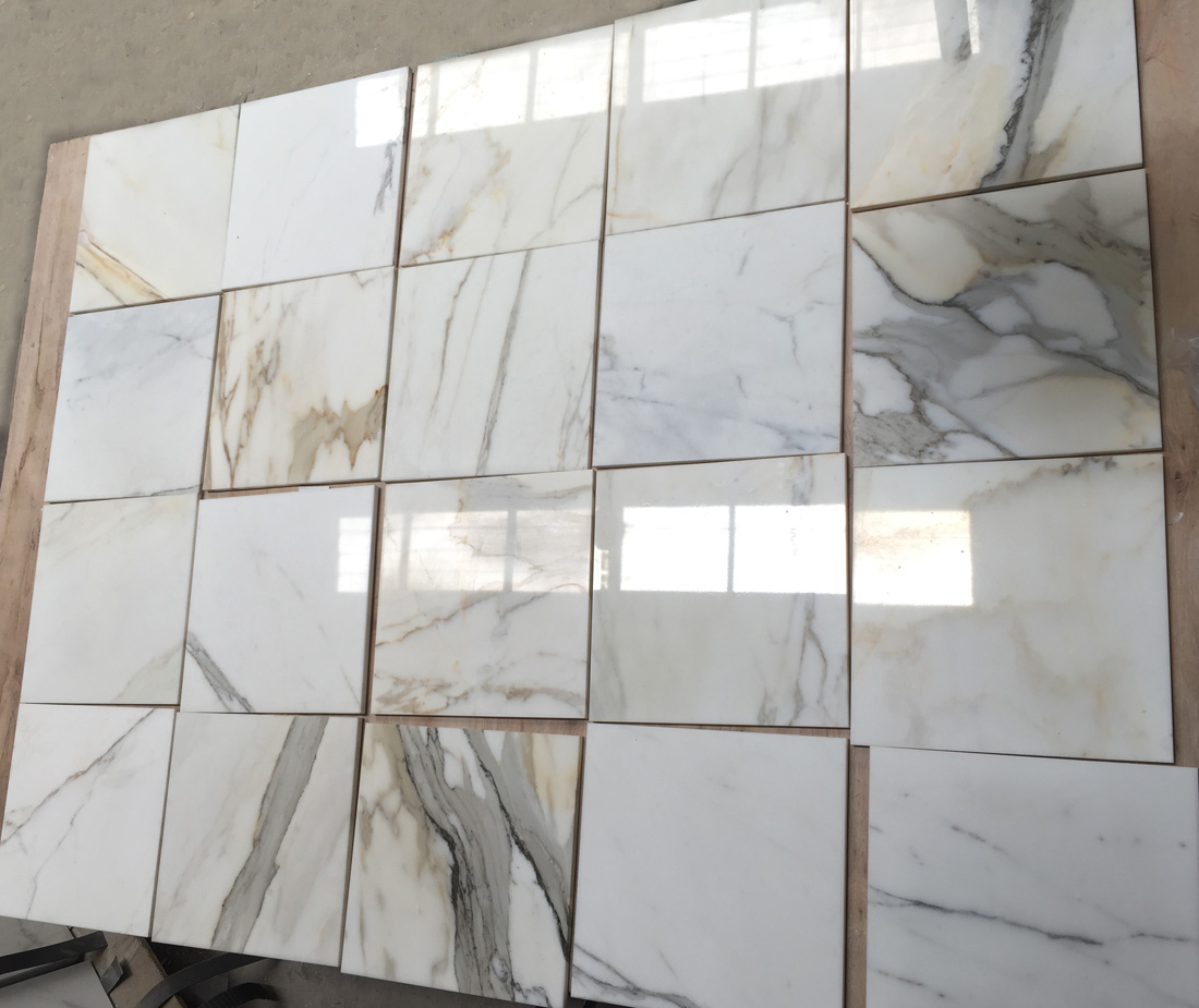 Calacatta Gold Marble Tiles Polished White Marble Stone Tiles