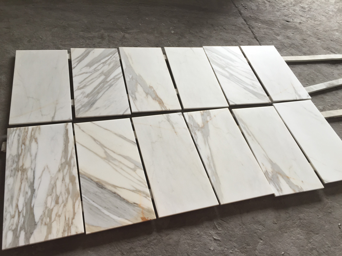 Calacatta Gold Tiles White Polished Marble Tiles