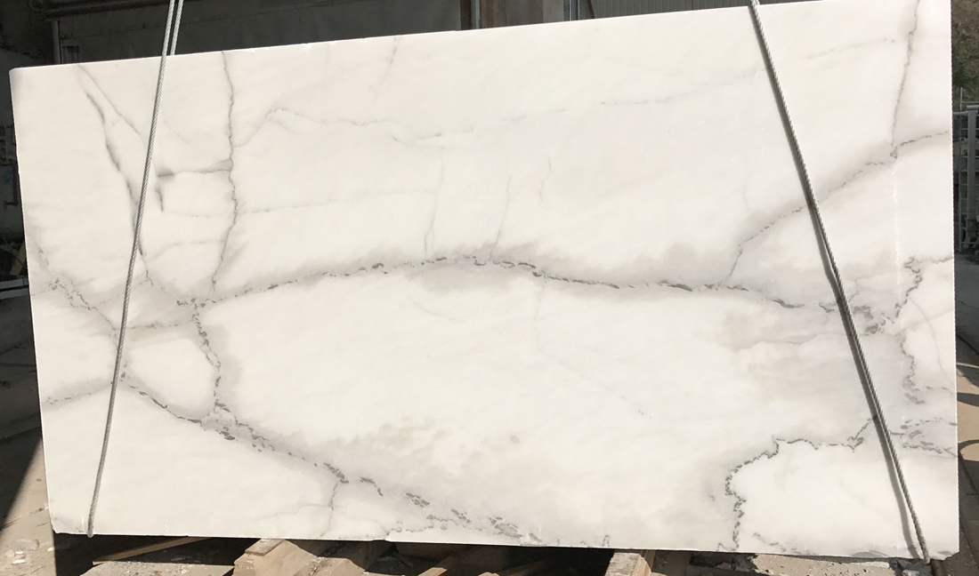 Calacatta Lincoln Marble Slab White Honed Marble Slabs