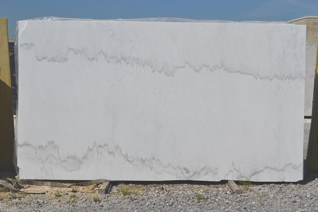 Calacatta Linear Marble White Slabs