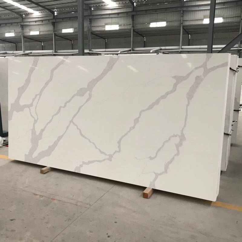 Calacatta Luxe White Quartz Countertop Slab
