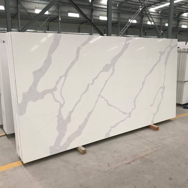 Calacatta Luxe White Quartz Slabs for Countertop