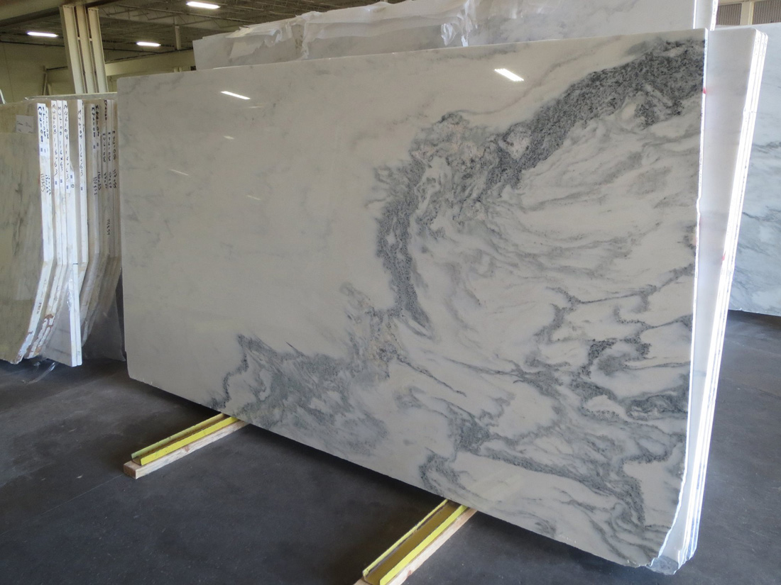 Calacatta Marble Polished White Marble Slab