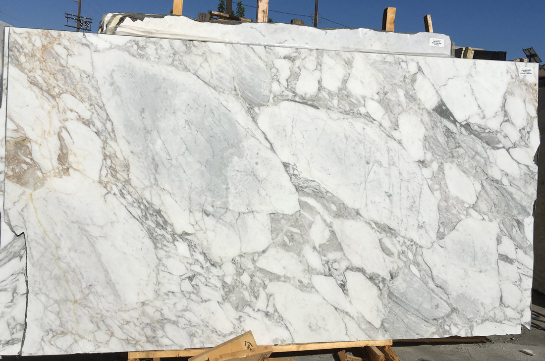 Calacatta Marble Polished White Marble Slabs with High Quality