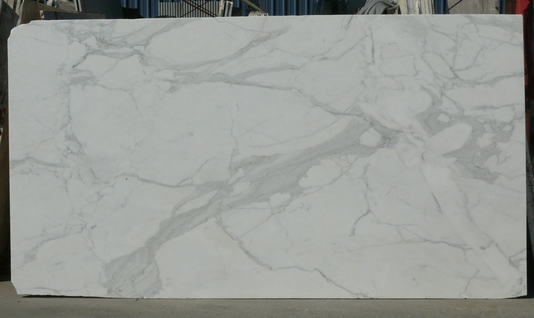 Italy Honed Calacatta White Marble Slab
