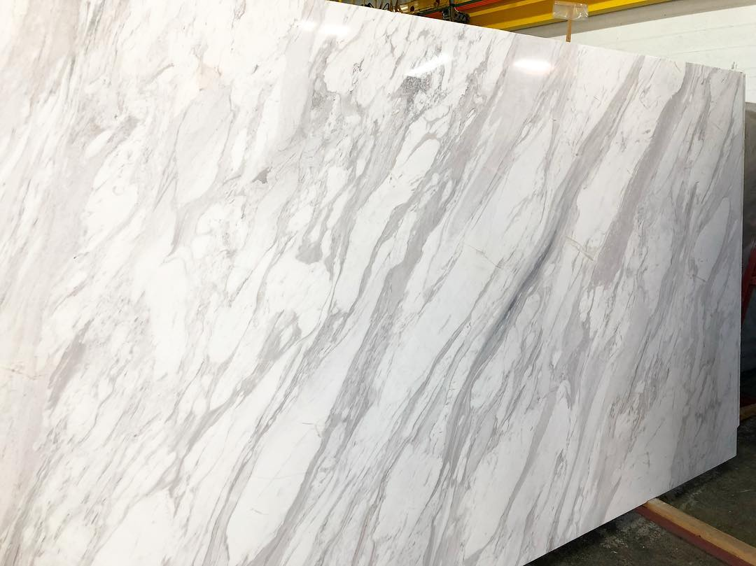 Calacatta Marble Slabs Polished White Marble Slabs from Italy