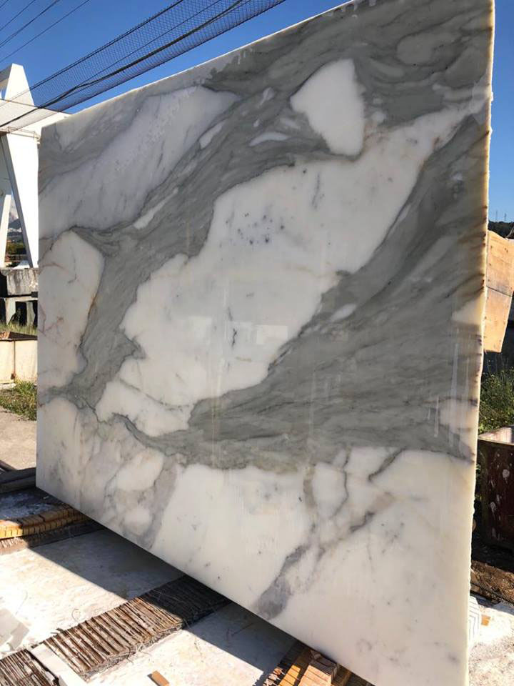 Calacatta Marble Slabs Polished White Marble Slabs