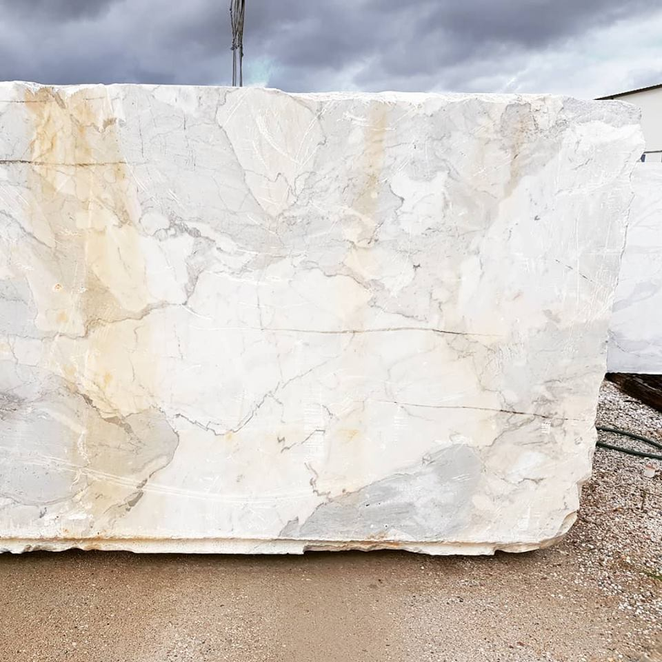 Calacatta Marble White Natural Blocks from Portugal