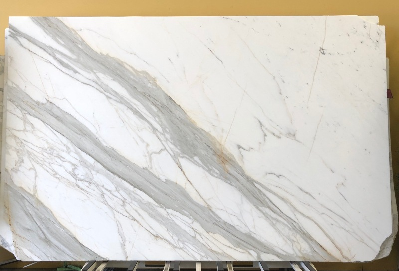 Calacatta Marble White Stone Slabs for Bathroom Vanity Tops