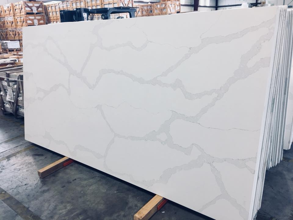 Calacatta Nova Quartz Slabs White Artificial Stone Slabs