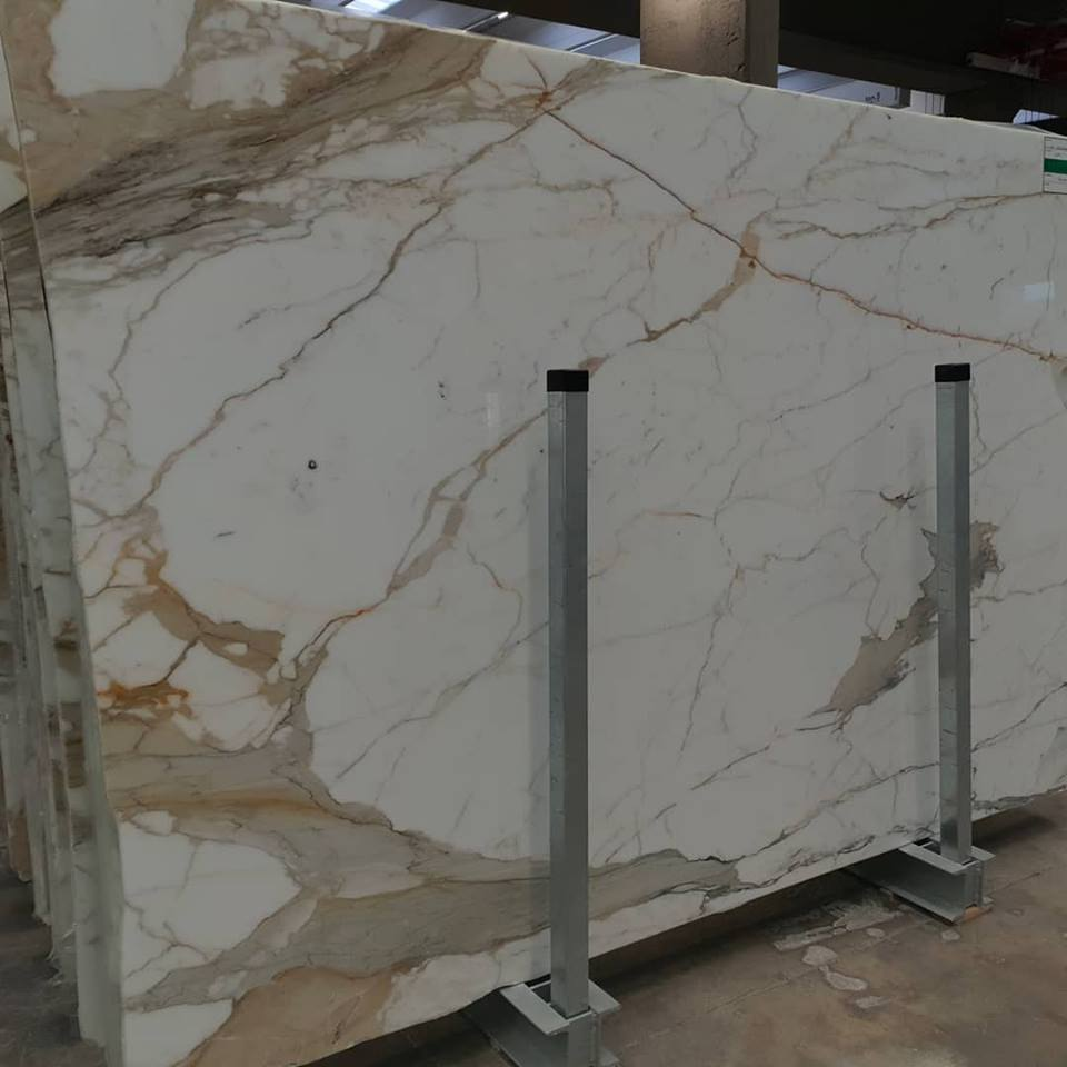 Calacatta Polished Slabs White Marble Slabs