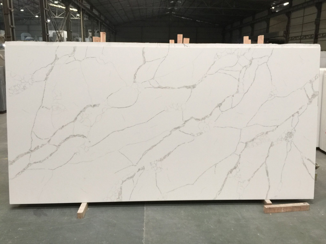 Calacatta Quartz Slabs with High Quality
