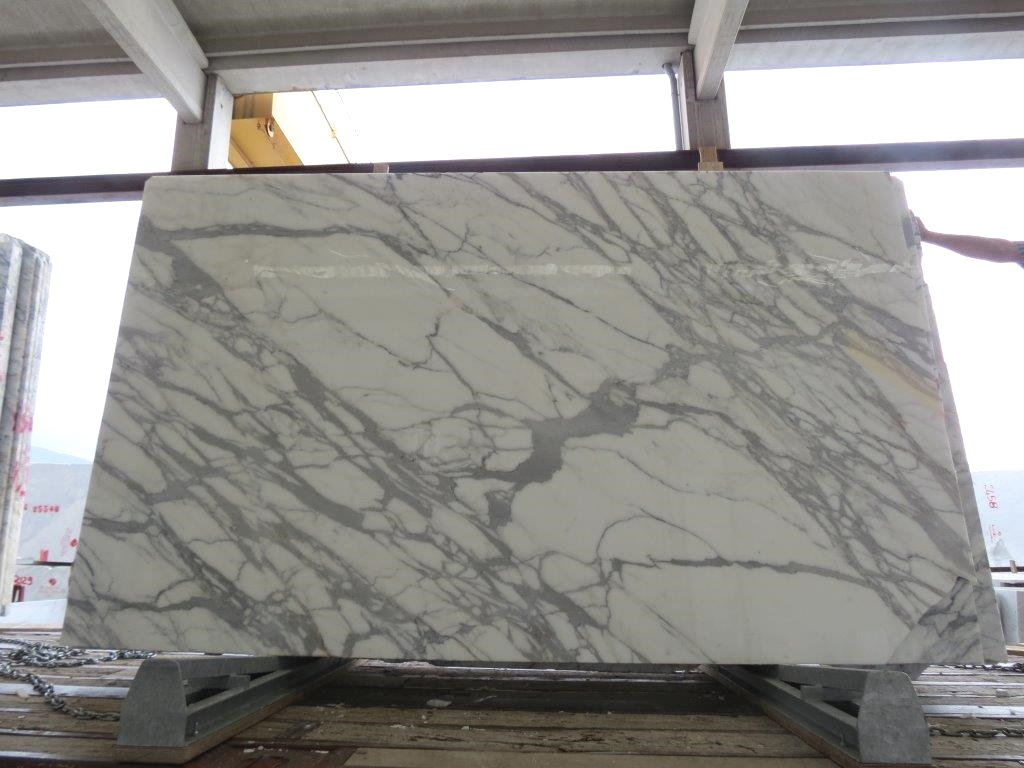 Calacatta Slab Italy White Polished Marble Stone Slabs