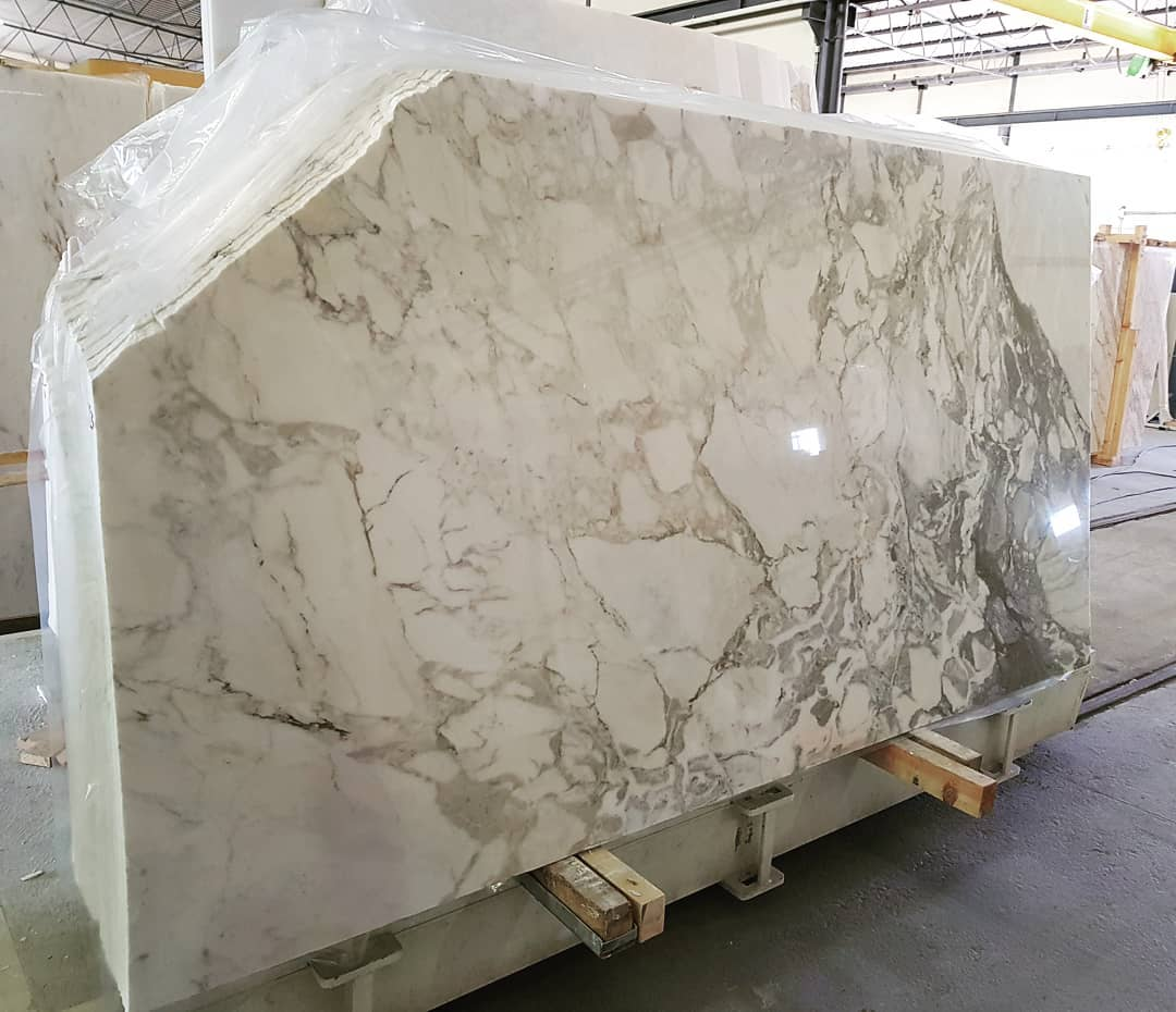 Calacatta Slabs Premium Polished White Marble Slabs