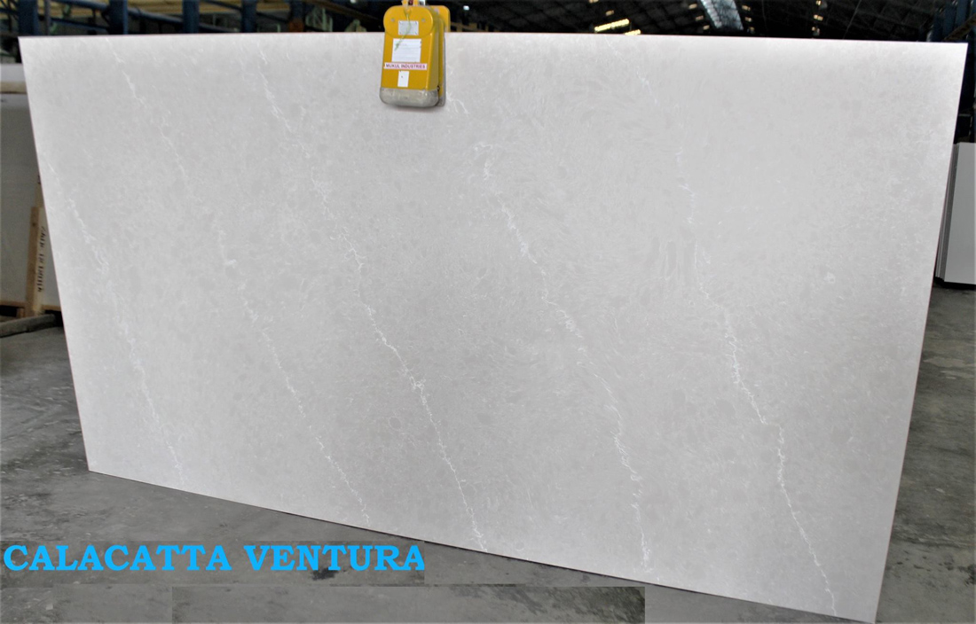 Calacatta Ventura Grey Quartz Slabs
