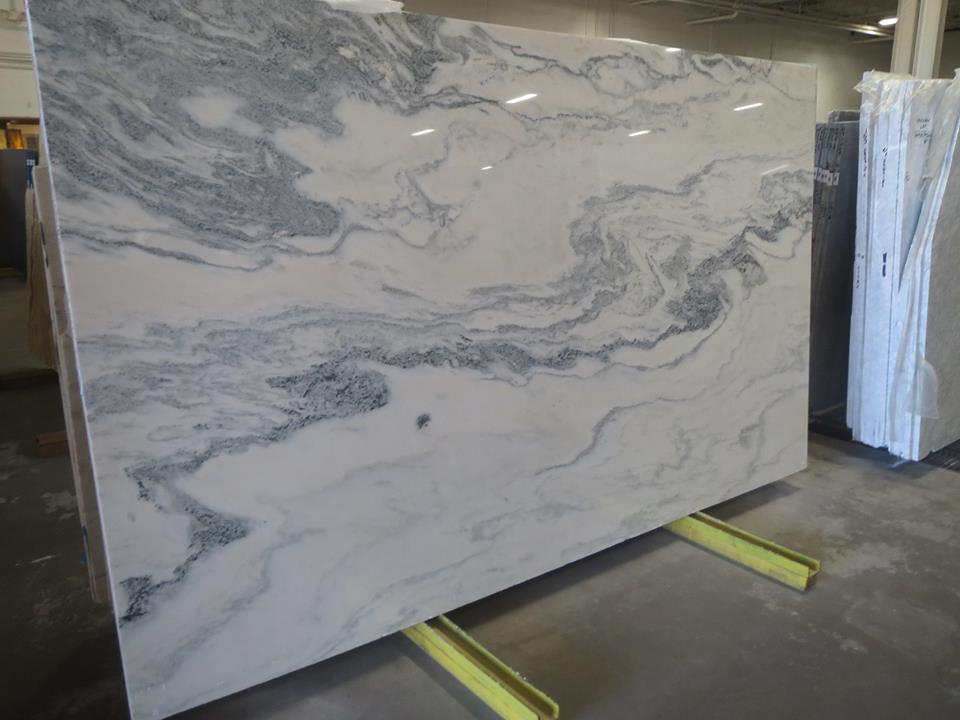 Calacatta White Marble Polished Marble Slabs