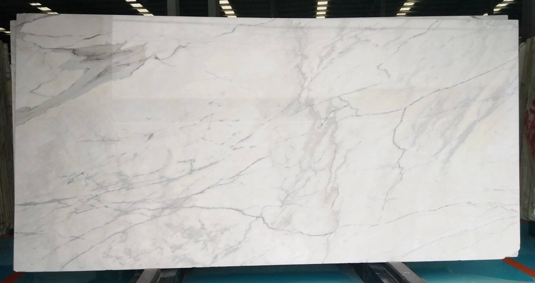 Calacatta White Marble Polished Slab Italian Top Quality Marble Slabs
