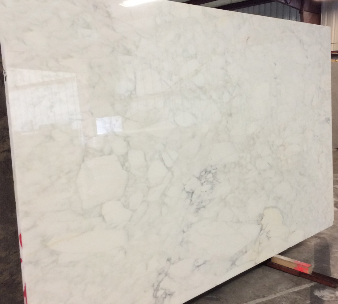 Calacatta White Marble Polished Slabs Top Quality Italian Stone Slabs