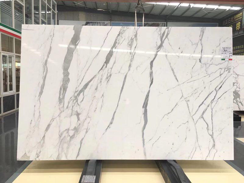 Calacatta White Marble Polished Slabs