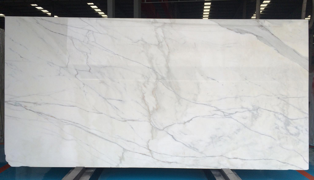 Calacatta White Marble Slab Polished Marble Slabs