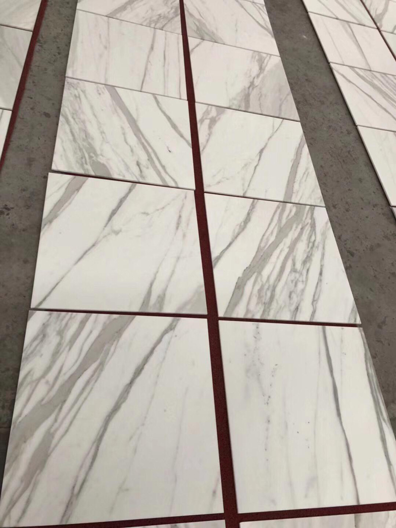 Calacatta White Polished Marble Tiles Marble Flooring Tiles