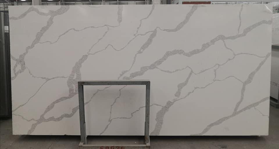 Calacatta White Quartz Slab White Artificial Stone Slabs