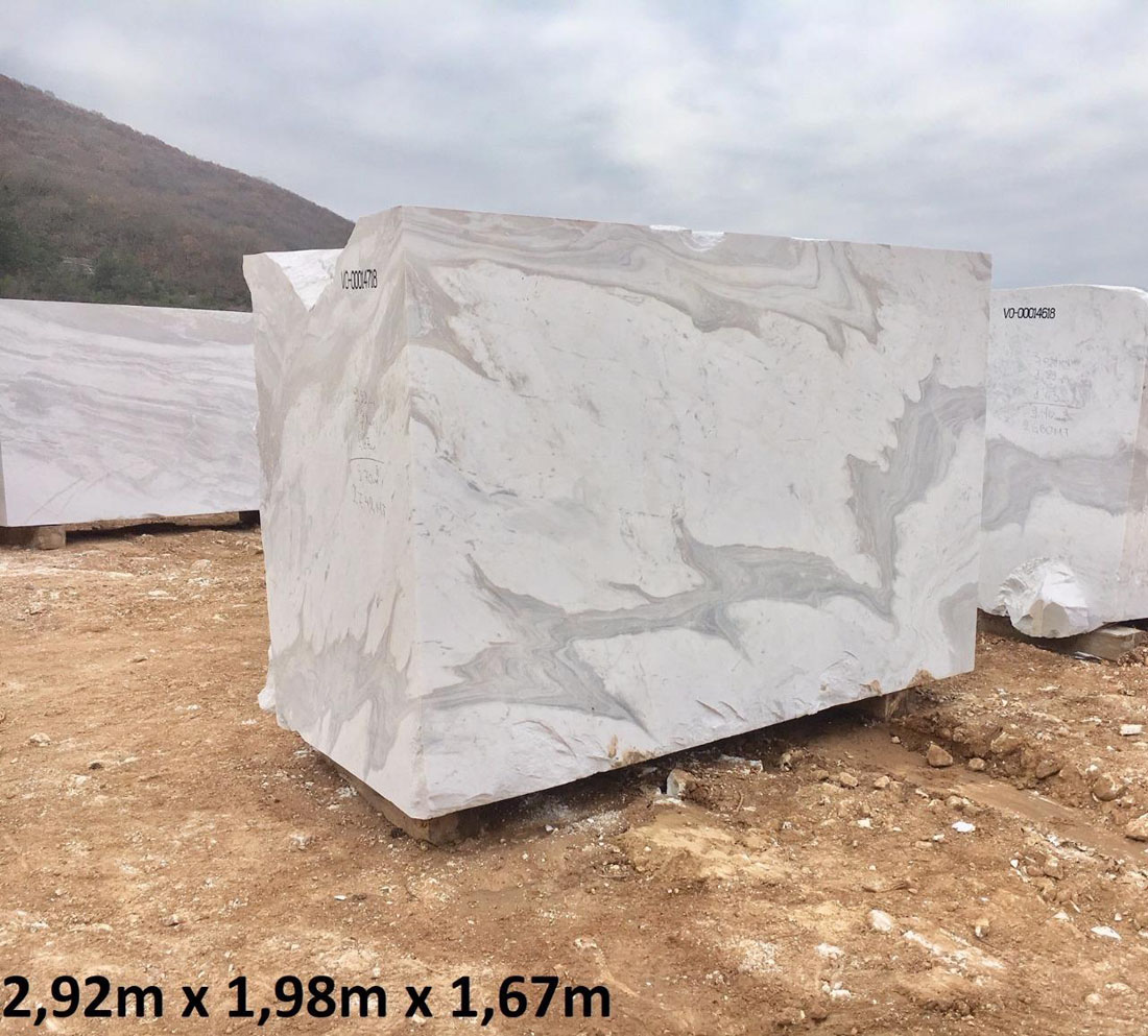 Calacatto Blocks White Natural Marble Blocks