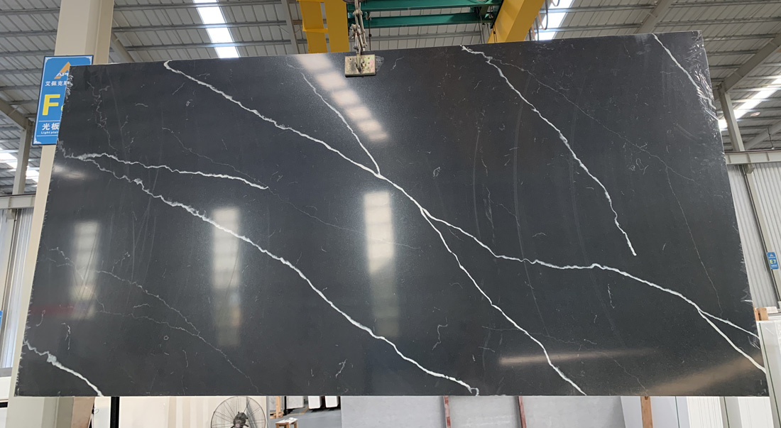 New black Calaeatta quartz slab China factory 2
