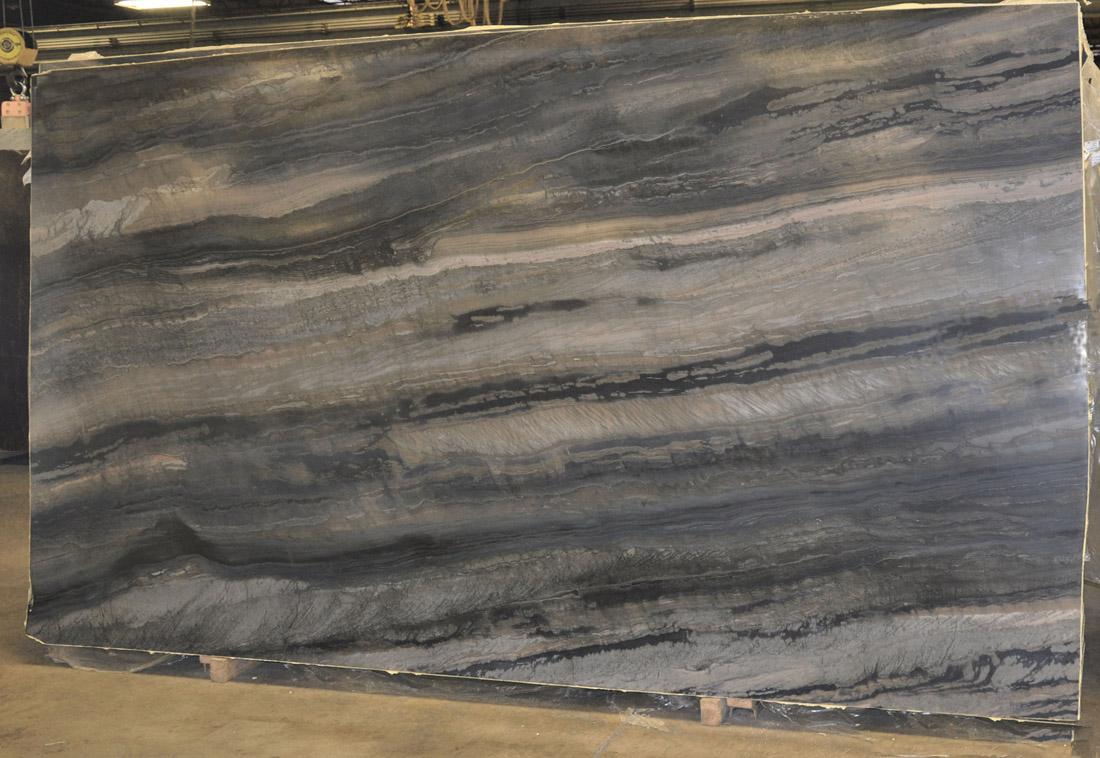 Calais Leather 3CM Quartzite Slabs Blue Quartzite Slabs for Countertops