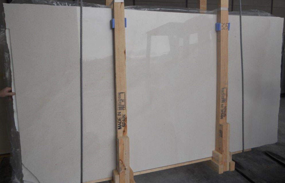 Caliza Capri Limestone Polished Slabs White Competitive Limestone Slabs