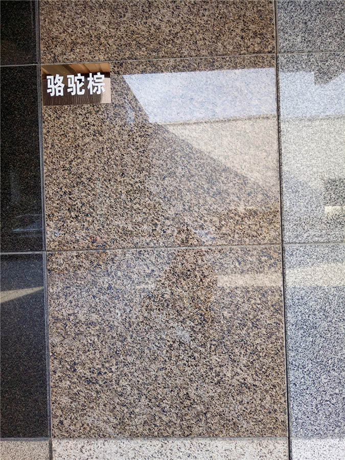 Camel Brown Granite Polished Tiles for Walling