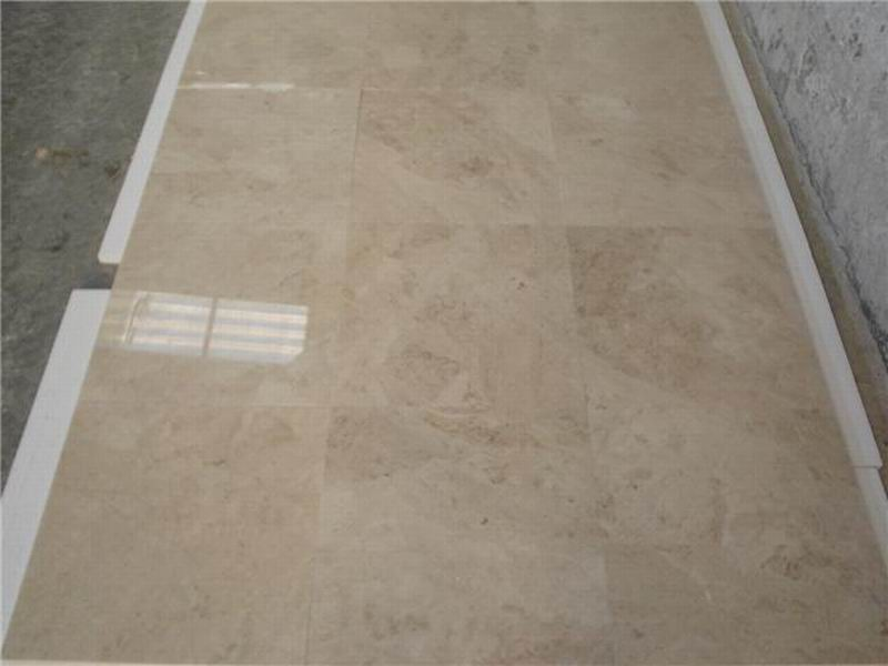 Cappucino Beige Marble Tiles Polished Beige Stone Flooring Tiles