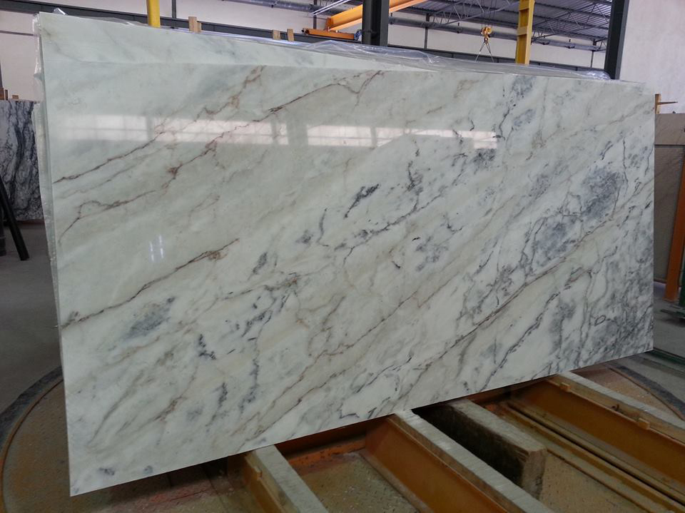 Carradinha Marble Polished White Marble Slabs