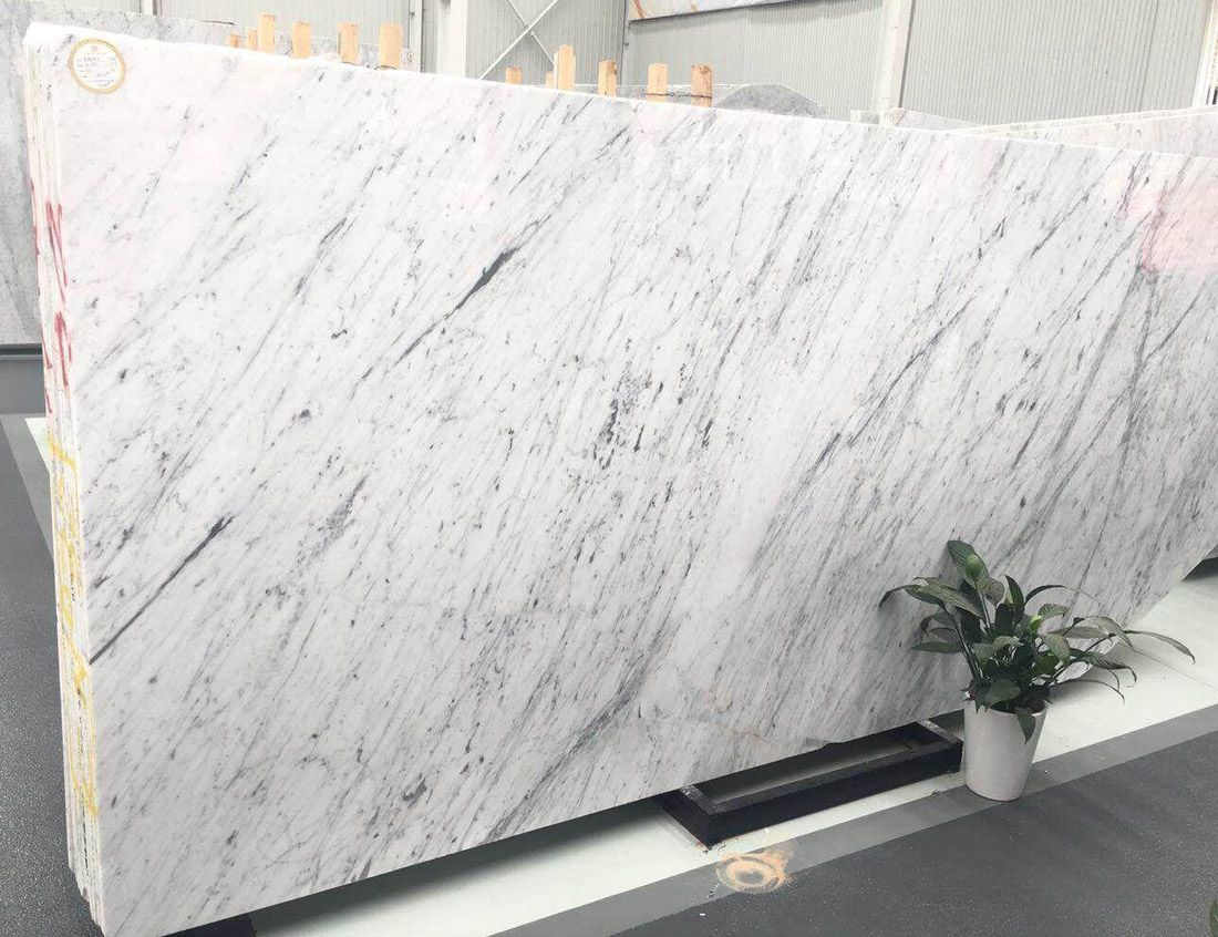 Carrara Marble Italian White Polished Marble Slabs