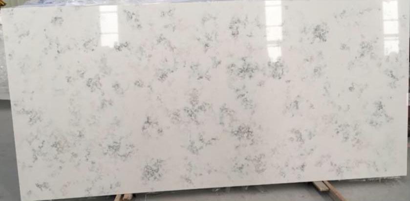Carrara Quartz Countertop Slab White Polished Artificial Slabs