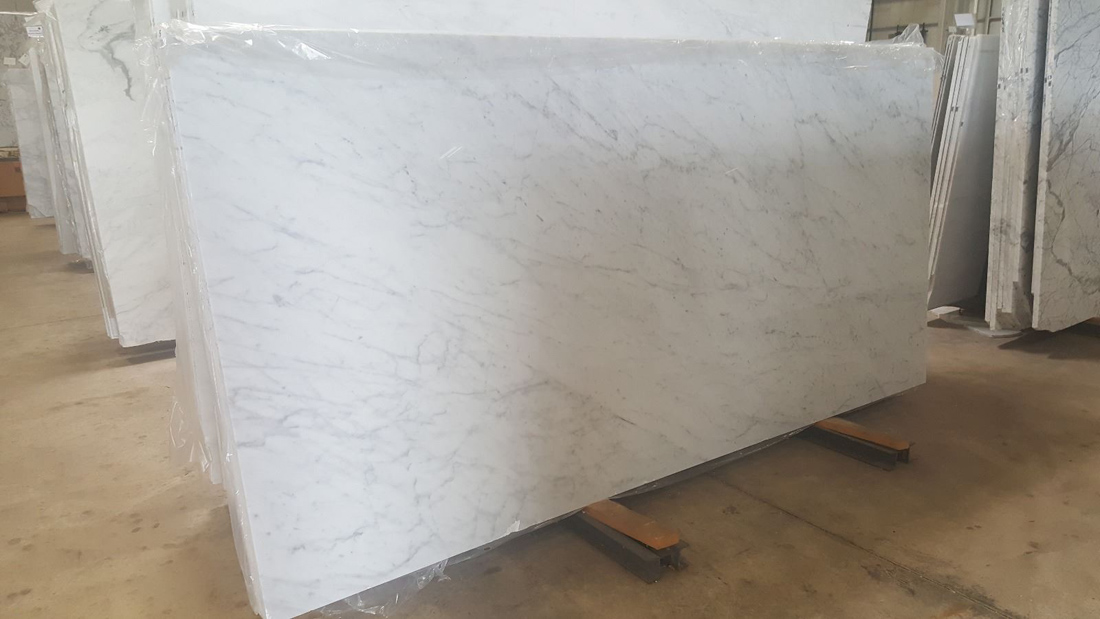 Carrara Veined Marble Polished Slabs from Turkey
