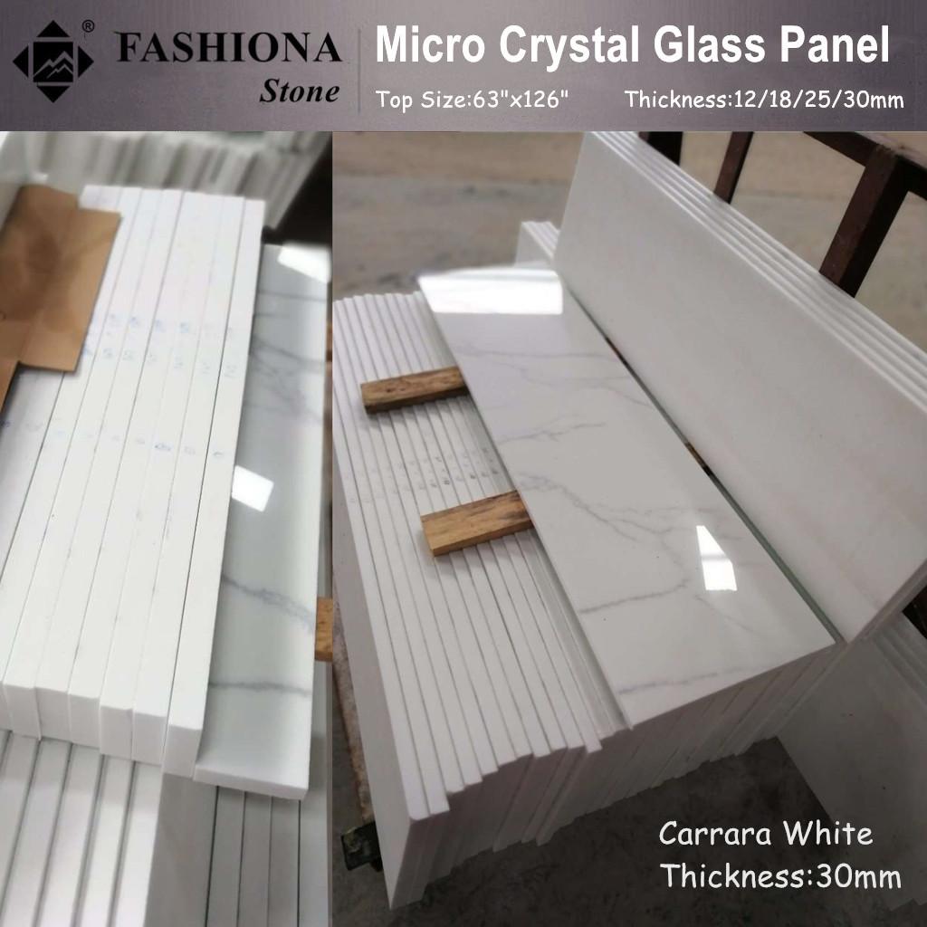 Carrara White Crystal Glass Stone
