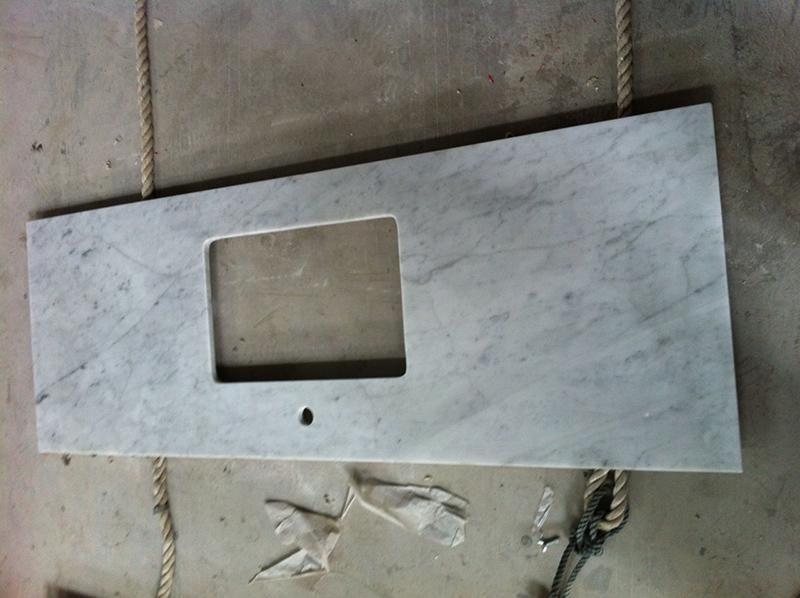 Carrara White Marble Kitchen Countertop