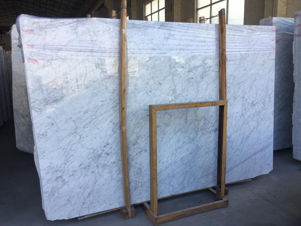 Carrara White Marble Slab Italian White Polished Marble Slabs